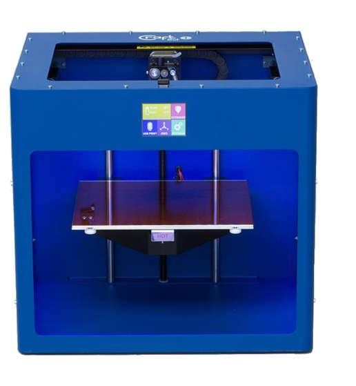 Craftbot 2 3D Drucker mit FDM Technologie in Blau