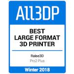 All3DP Bester Großformat 3D-Drucker Winter 2018 - Raise3D Pro2 Plus