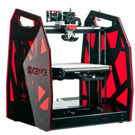 3DGence One 3D Drucker mit FDM Technologie in rot